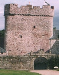The west wall of the keep.